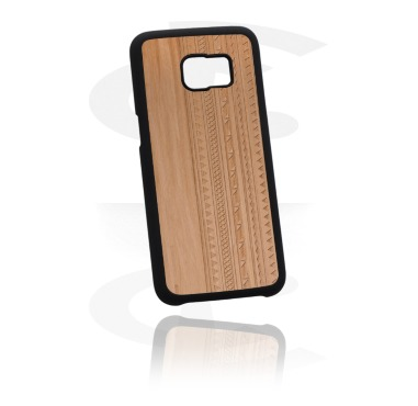 Чехол для мобильного телефона с лазерной гравировкой на вкладке из дерева