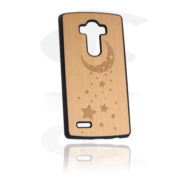 Laserkuvioitu puukoristeinen kännykän suojakuori
