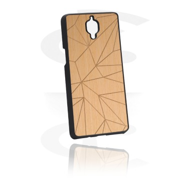 Mobile Case s Wooden Inlay a Lasered Wood Inlay