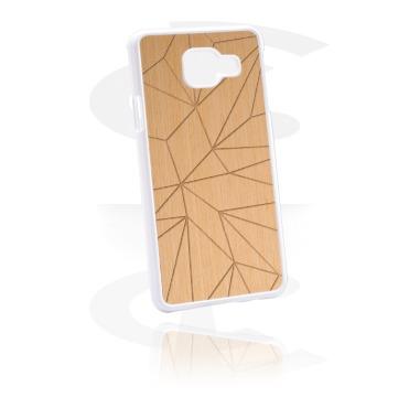 Capa de proteção para telemóvel com revestimento de madeira e gravura a laser