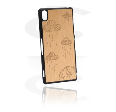 Mobile Case avec Wooden Inlay et Lasered Wood Inlay