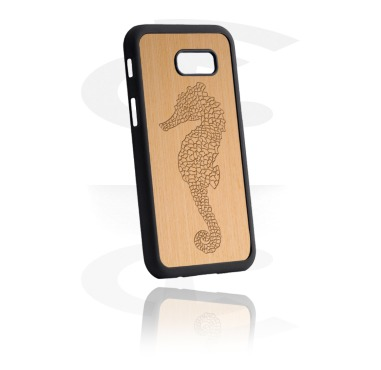 Mobile Case med Wooden Inlay och Lasered Wood Inlay