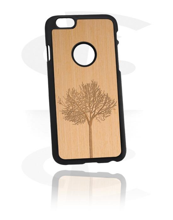 Etui na telefony, Mobile Case z Wooden Inlay i Lasered Wood Inlay, Plastik, Drewno wiązu