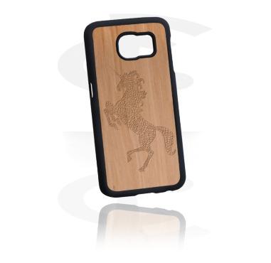 Handyhülle mit Holzeinlage und Lasergravur