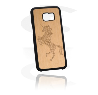 Pouzdro na mobil, Mobile Case s Wooden Inlay a Lasered Wood Inlay, Plastic, Wood