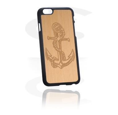Mobile Case kanssa Wooden Inlay ja Lasered Wood Inlay