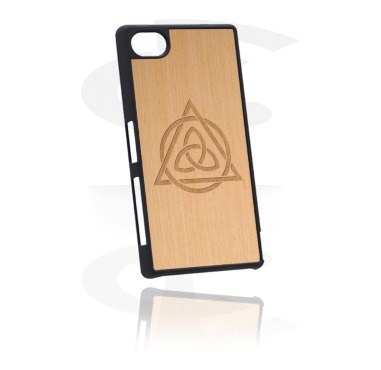 Telefoonhoesjes, Telefoonhoesje met Houten inleg en Lasered Wood Inlay, Kunststof, Elm Wood