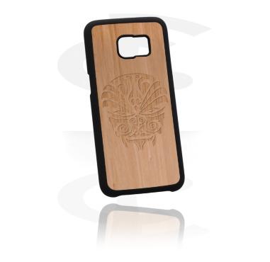 Telefoonhoesje met gegraveerd houten inleg