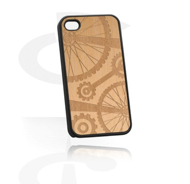 Mobile Case com Wooden Inlay e Lasered Wood Inlay
