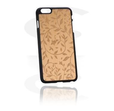 Чехол для телефона c деревянной вставкой с лазерной гравировкой