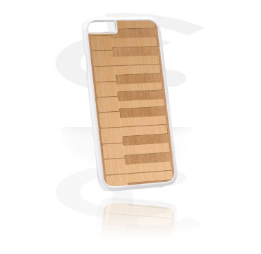 Telefoonhoesje met houten inleg en lasergravure
