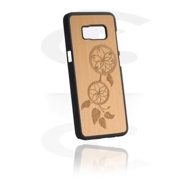 Etui na telefony, Mobile Case z Wooden Inlay i Lasered Wood Inlay, Plastic, Elm Wood