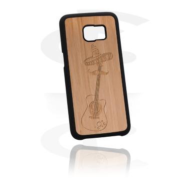 Telefoonhoesje met Houten inleg en Lasered Wood Inlay