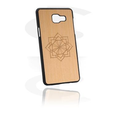 Capa de proteção de telemóvel com revestimento de madeira e gravura a laser