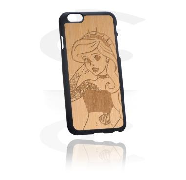 Cover per cellulare con inserto in legno e incisione laser