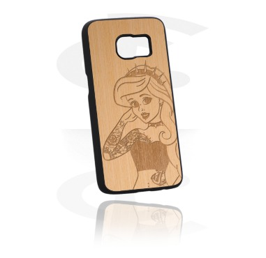 Mobile Case med Wooden Inlay og Lasered Wood Inlay