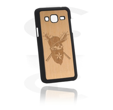 Mobile Case con Wooden Inlay e Lasered Wood Inlay