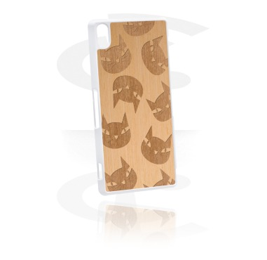Mobile Case s Wooden Inlay i Lasered Wood Inlay