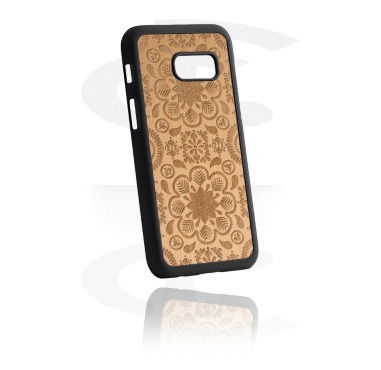 Mobile cases, Mobile Case with Wooden Inlay and Lasered Wood Inlay, Plastic, Elm Wood