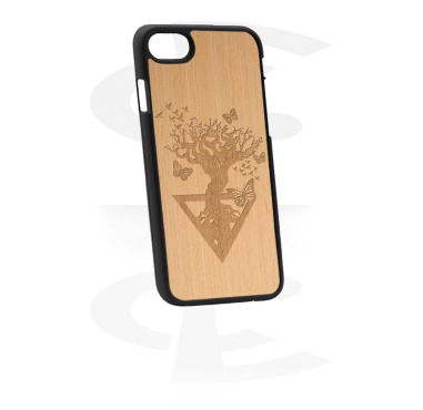 Mobile Case con Wooden Inlay y Lasered Wood Inlay