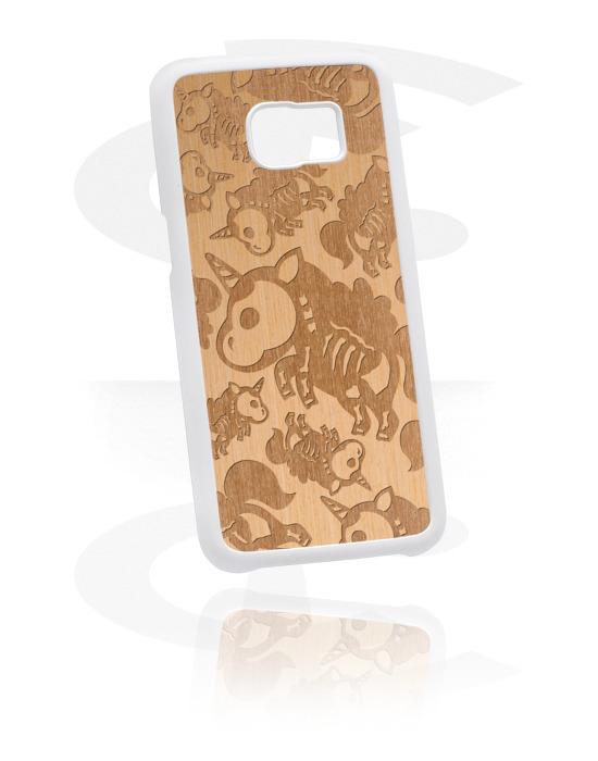 Pouzdro na mobil, Mobile Case s cute skeleton design, Plast, Jilmové dřevo