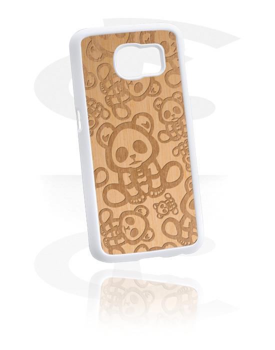 Cover per cellulare, Cover per cellulare con scheletro, Plastica, Legno