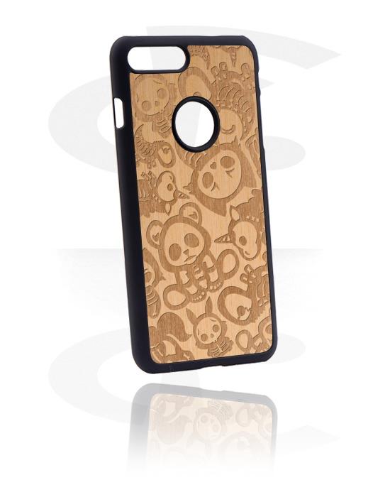 Pouzdro na mobil, Mobile Case s cute skeleton design, Plast, Dřevo