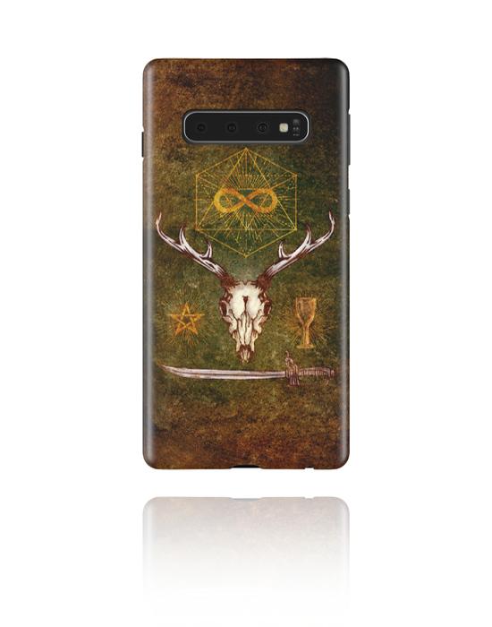 Phone cases, Mobile Case with Mystic Skull Design, Plastic