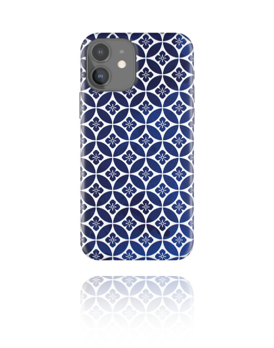 Phone cases, Mobile Case with Navy Blue Mosaic, Plastic