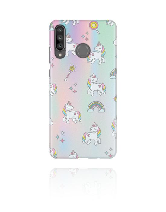 Cover per cellulare, Cover per cellulare con motivo Crazy Unicorn , Plastica