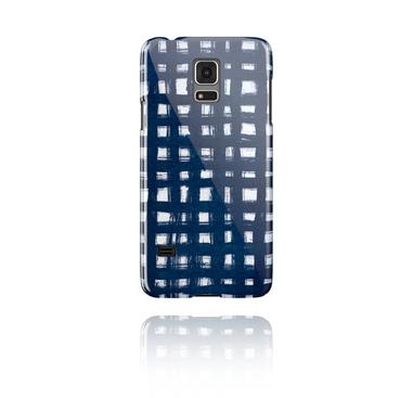 Mobile Case with blue batik tie-dye design
