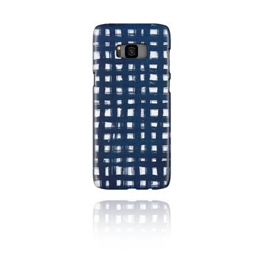 Handy-Schutzhülle mit blauem Batik-Design