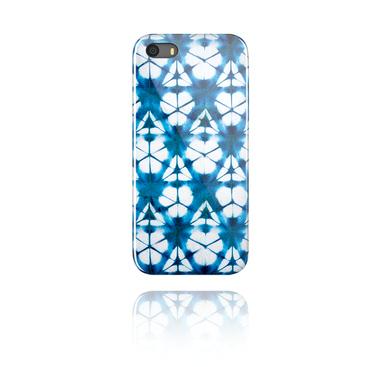 Mobile cases, Mobile Case with blue batik tie-dye design, Plastic