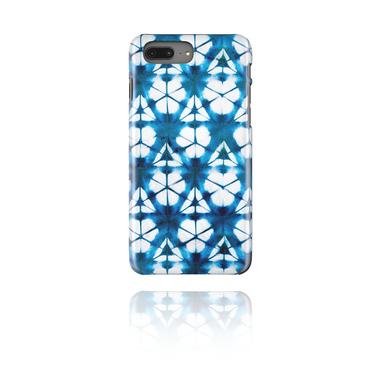 Mobile Case med blue batik tie-dye design