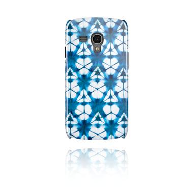 Funda para móvil con blauem Batik-Design