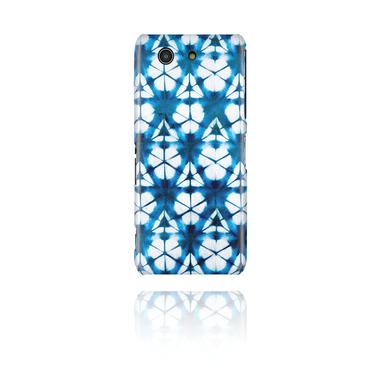 Mobile Case avec blauem Batik-Design