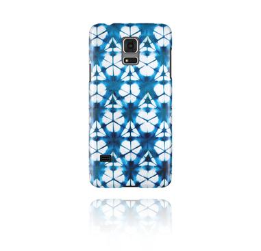 Mobile Case kanssa blue batik tie-dye design