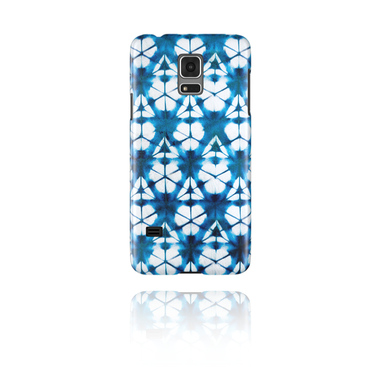 Mobile Case med blue batik tie-dye design