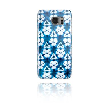 Handyhülle mit blauem Batik-Design