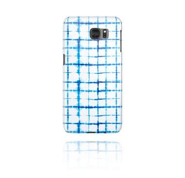Mobile Case med blauem Batik-Design
