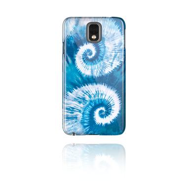 Mobile Case med blauem Batik-Design