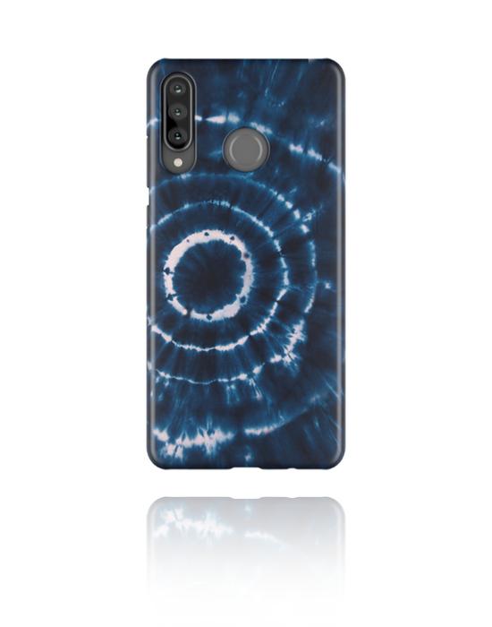 Phone cases, Mobile Case with blue batik tie-dye design, Plastic