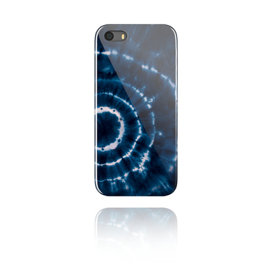 Mobile Case s blue batik tie-dye design