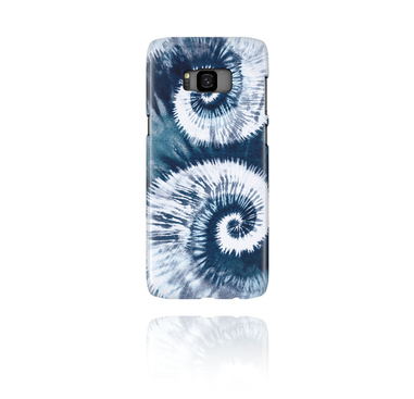 Mobile Case avec blauem Batik-Design