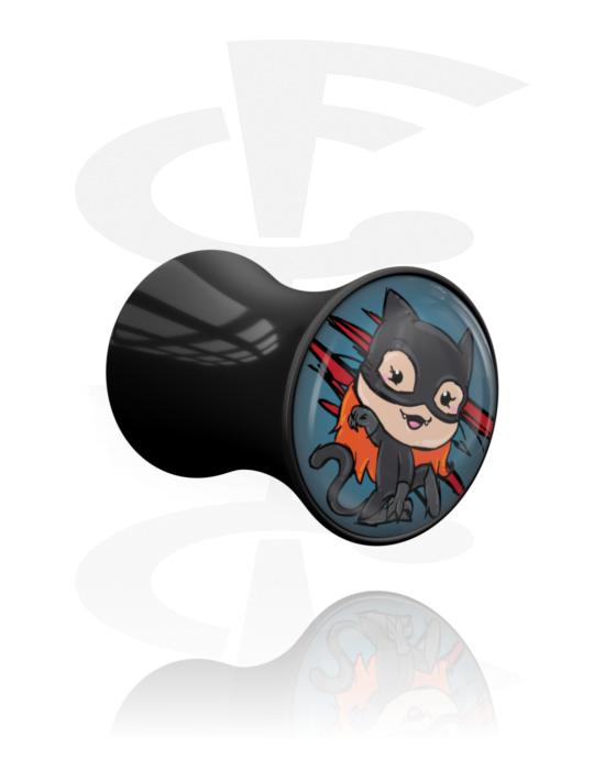 Tunely & plugy, Double Flared Plug s Crapwaer design, Akryl