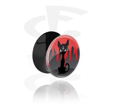 Double flared plug noir