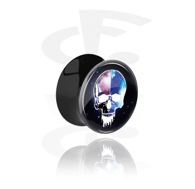 Black Double Flared Plug