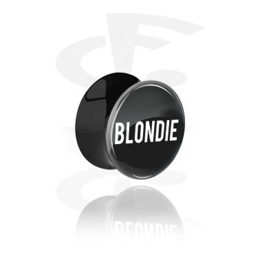 Schwarzer Double Flared Plug