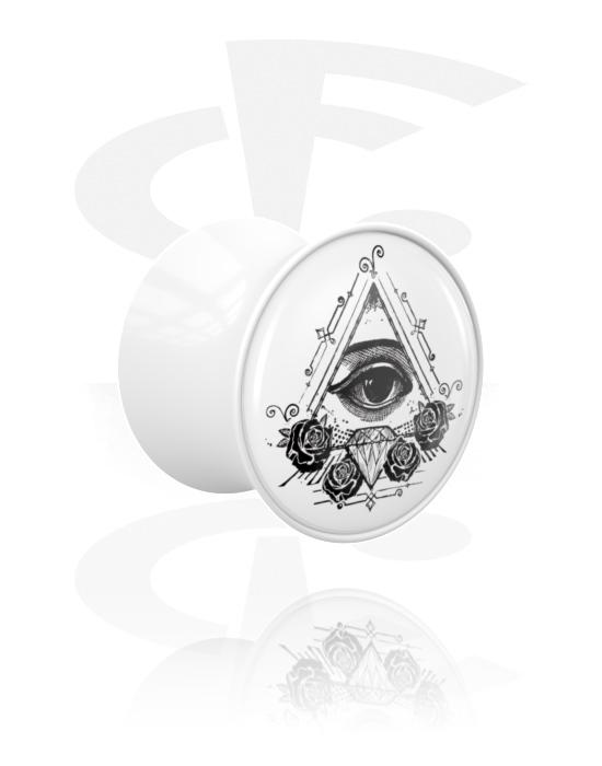 Tunneler & plugger, Double Flared Plug, Acrylic