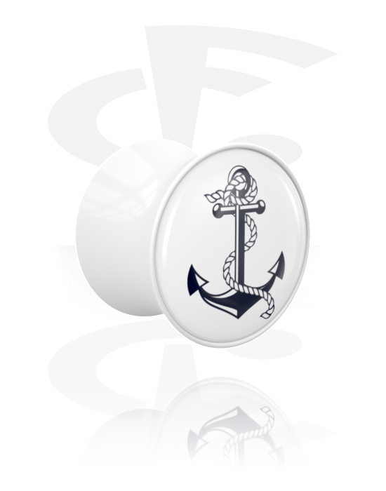 Tunely & plugy, Double Flared Plug s Anchor Design, Akryl